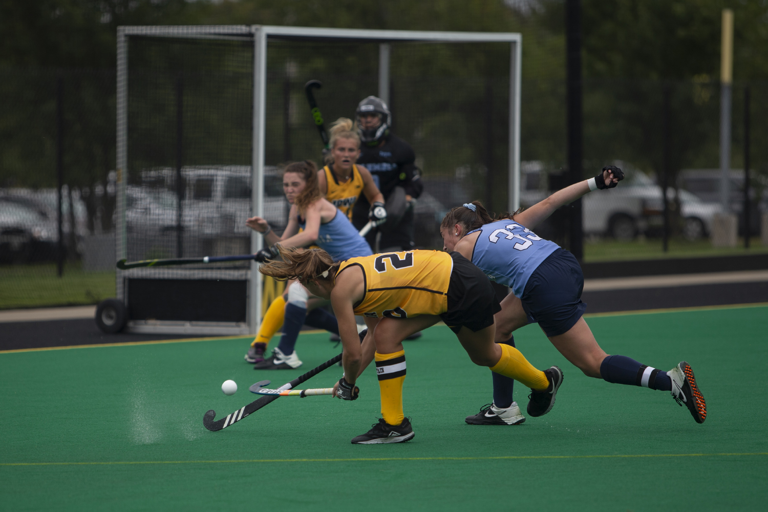 Iowa+midfielder+Sophie+Sunderland+makes+a+shot+during+a+field+hockey+game+between+Iowa+and+Columbia+at+Grant+Field+on+Sunday%2C+September+8%2C+2019.+The+Hawkeyes+defeated+the+Lions%2C+3-1.