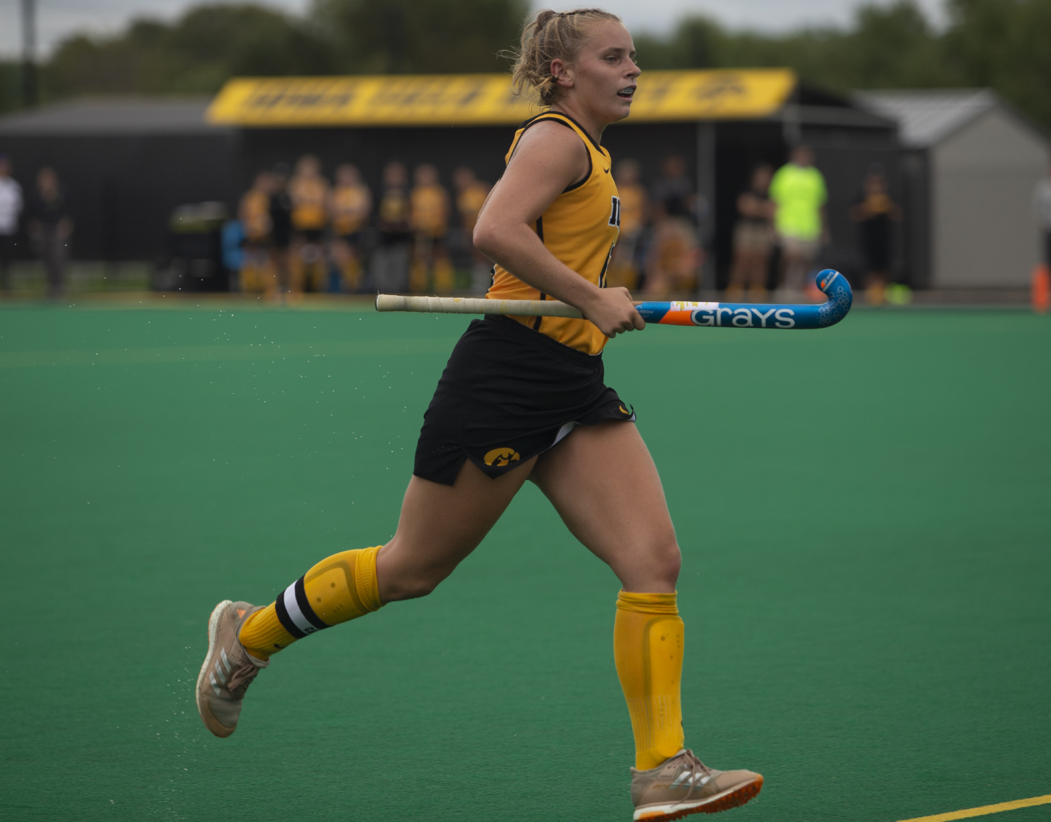 Iowa+midfielder+Katie+Birch+runs+down+the+field+during+a+field+hockey+game+between+Iowa+and+Columbia+at+Grant+Field+on+Sunday%2C+September+8%2C+2019.+The+Hawkeyes+defeated+the+Lions%2C+3-1.