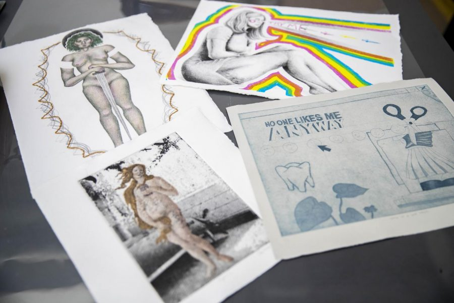 UI student creates prints and embroideries inspired by traditional practices and contemporary ideas