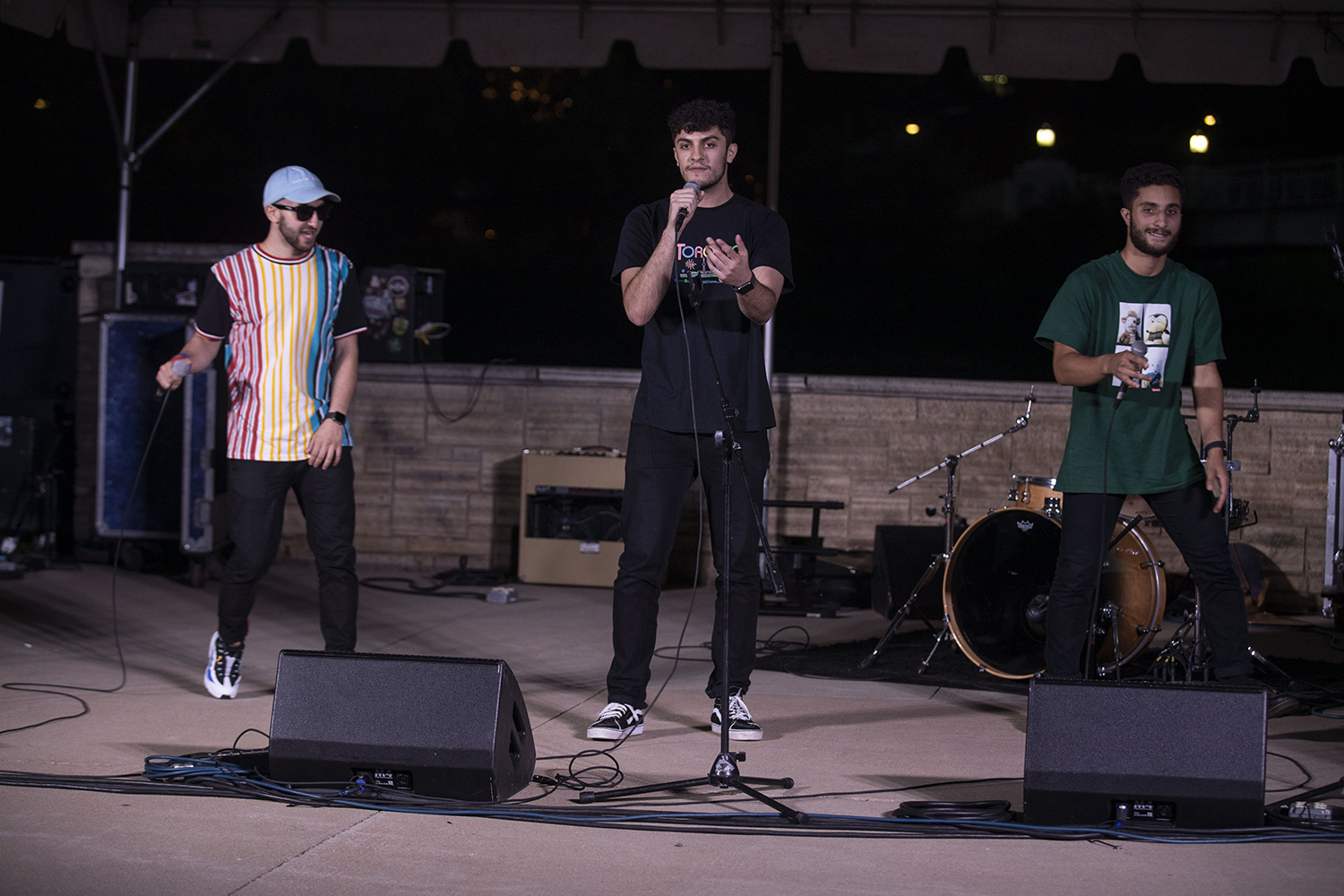 3 in the AM performs during Battle of the Bands behind the IMU on Sept. 4, 2019. Five bands competed for various cash prizes.