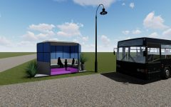 UI engineering students design art-integrating bus stop for rural Iowa students