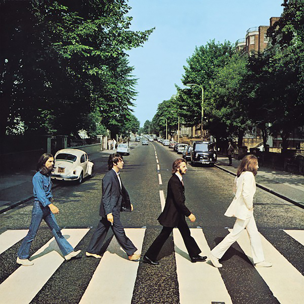 """The cover of The Beatles' """"Abbey Road"""" album."""