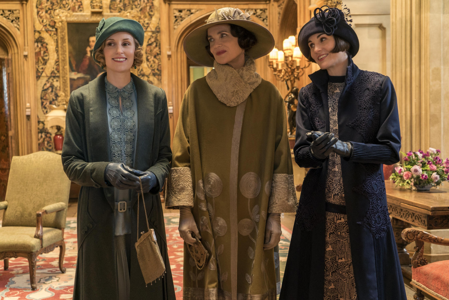 "The Crawley women: Laura Carmichael, from left, Elizabeth McGovern and Michelle Dockery star in ""Downton Abbey."" [Jaap Buitendijk/Focus Features]"