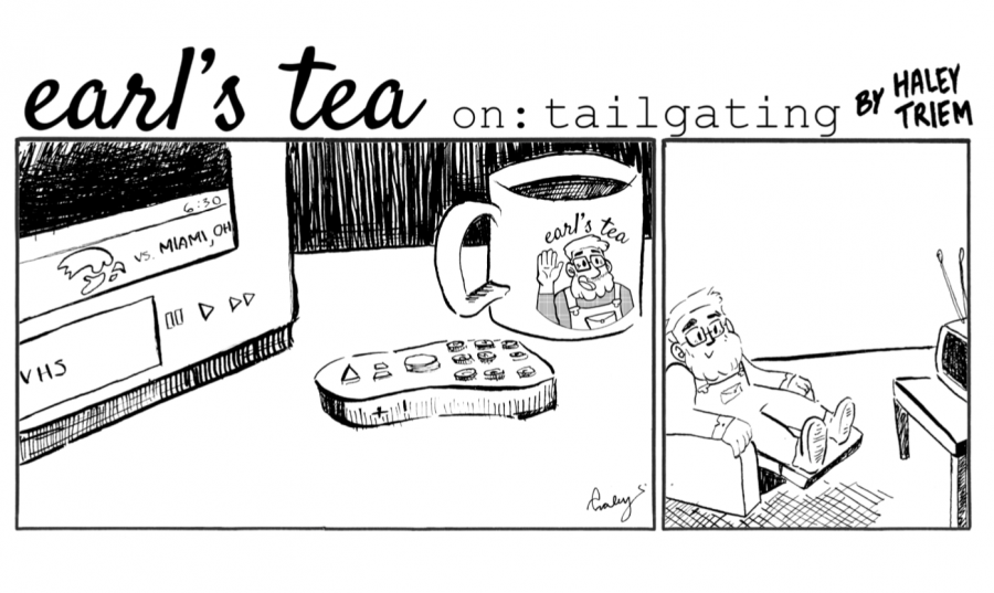 Cartoon: Earl's Tea on: Tailgating