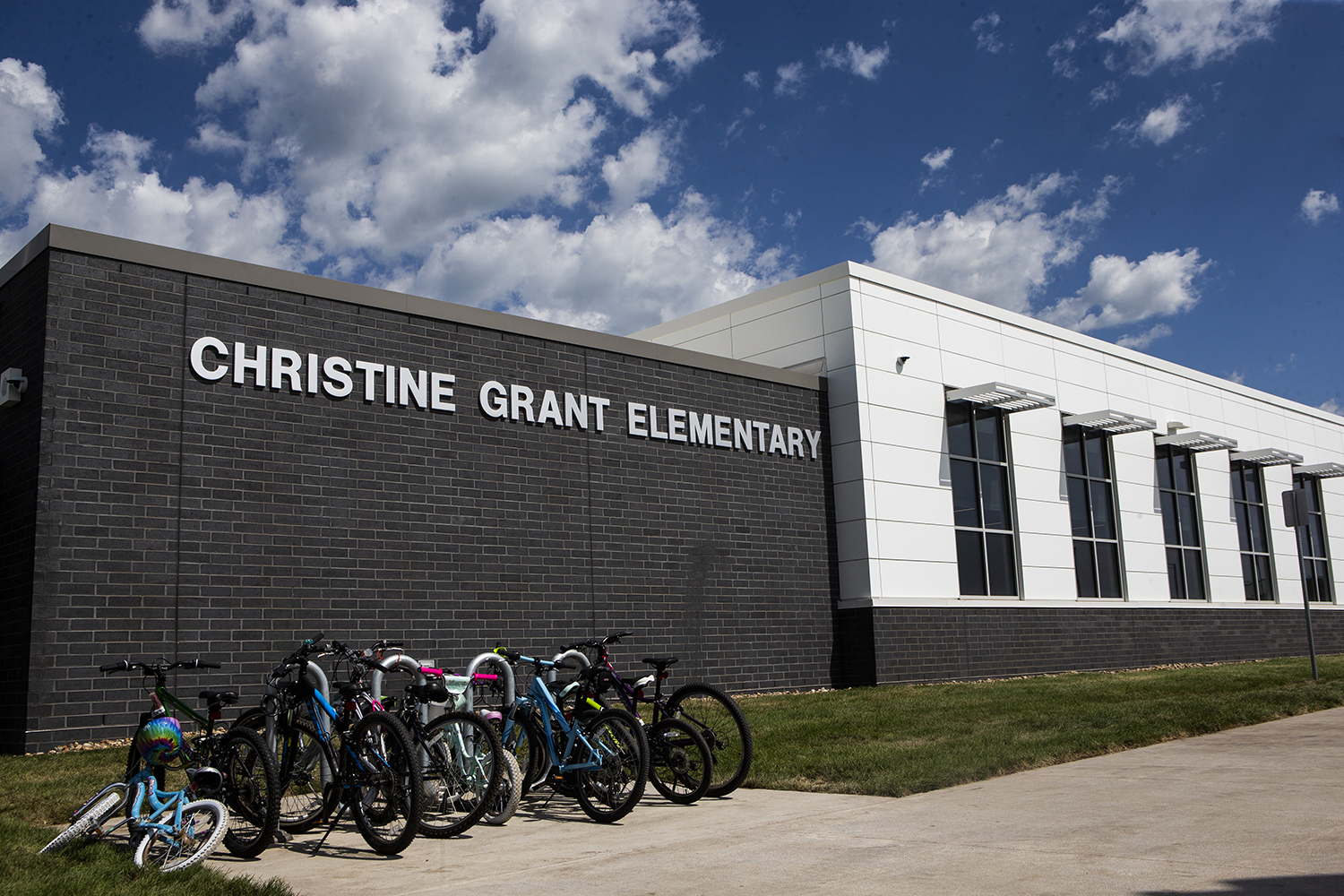Christine Grant Elementary is seen on Thursday, August 29, 2019. (Katina Zentz/The Daily Iowan)