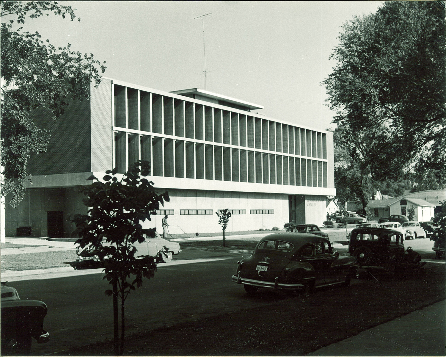 The Communications Center is seen in July 1953. The center, which previously housed The Daily Iowan, is set to be torn down.
