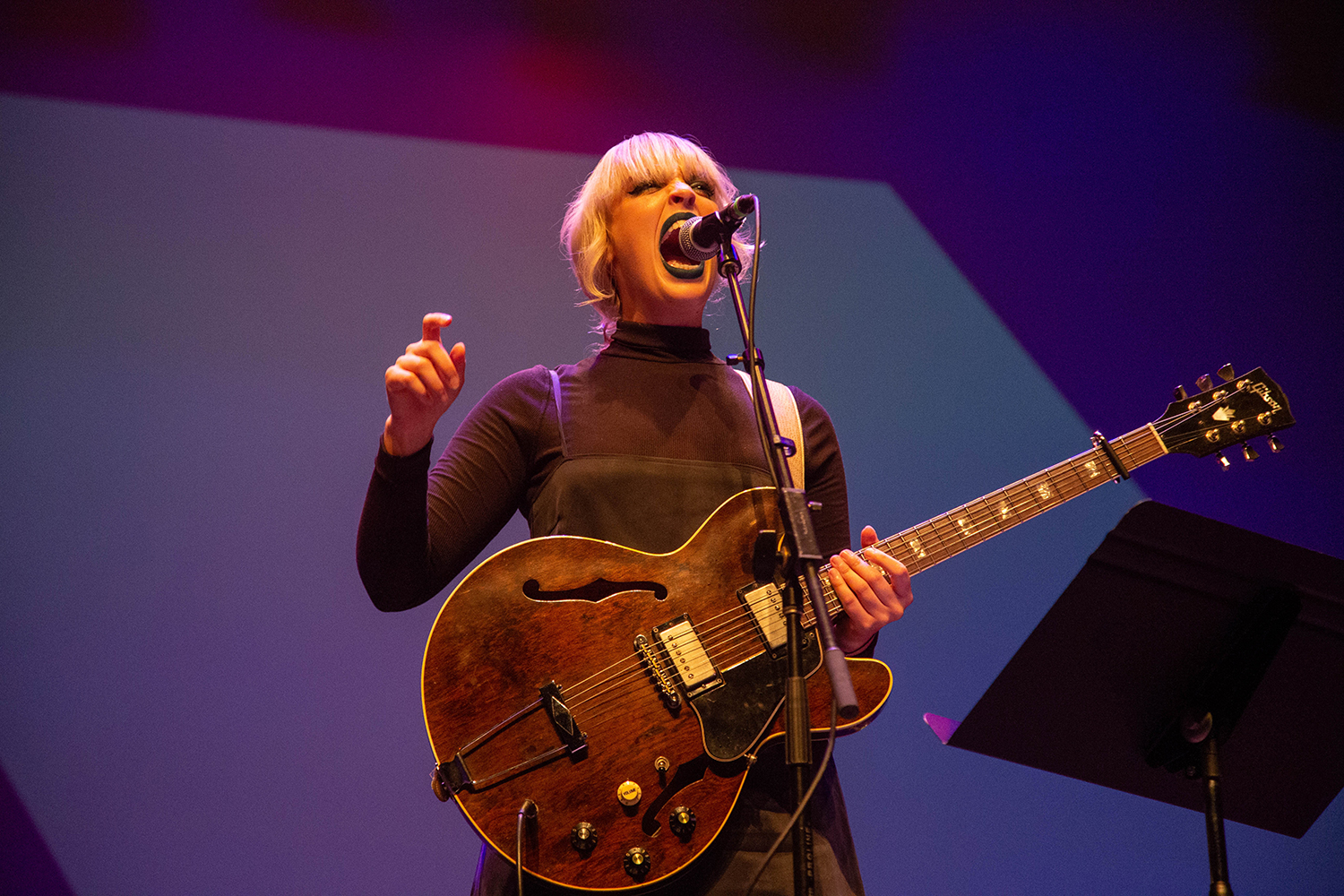 Elizabeth Moen performs at the Englert Theater on Friday, September14, 2018. The concert was part of Elizabeth Moen's LP