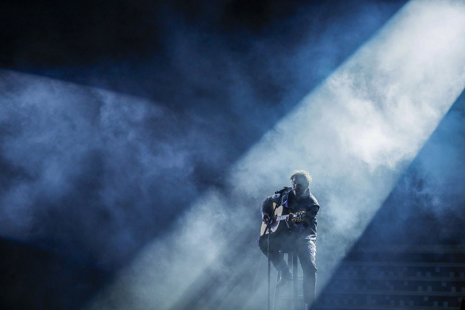 Post Malone performs during the 61st Grammy Awards at Staples Center in Los Angeles on Sunday, Feb. 10, 2019. (Robert Gauthier/Los Angeles Times/TNS)