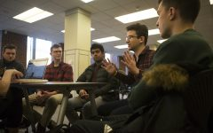 Dylan Montigney talks about Japan's esports scene at an interview in the Iowa Memorial Union on Monday, December 10, 2018. (Jenna Galligan/The Daily Iowan)