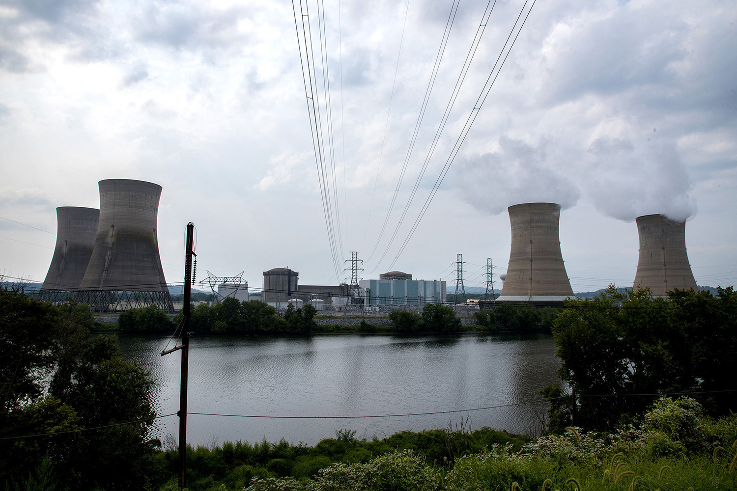 Three Mile Island (TMI) nuclear power plant complex in Middletown, Pa., on  September 5, 2017.