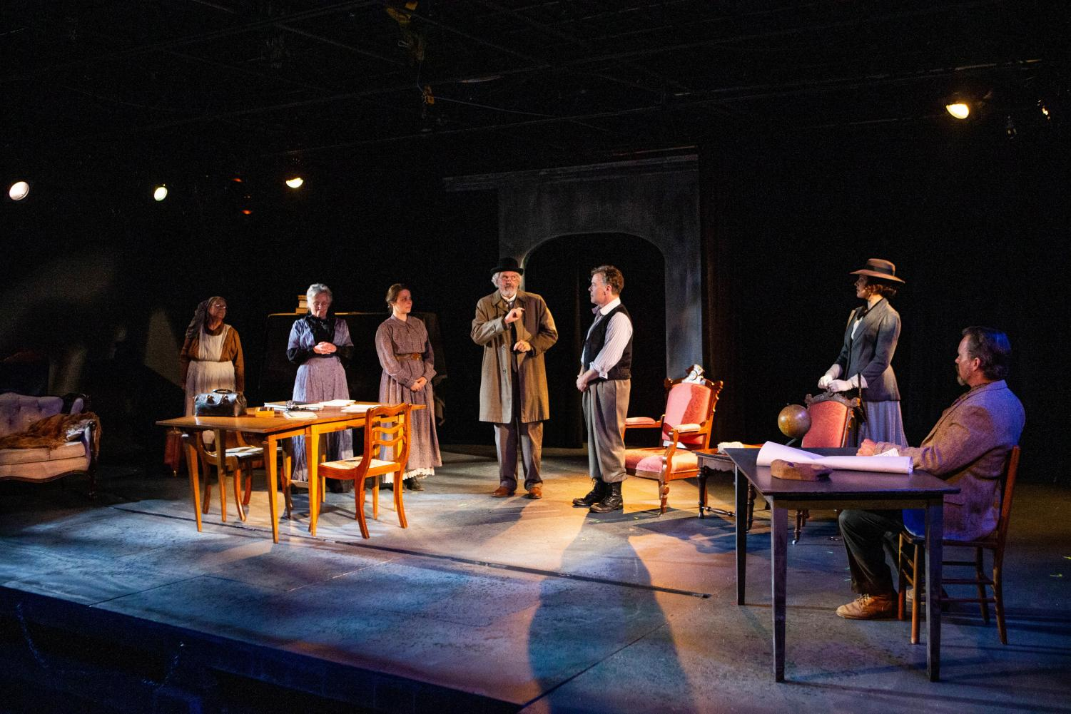 The cast of Uncle Vanya performs at the Riverside Theatre on Thursday, September 12, 2019.