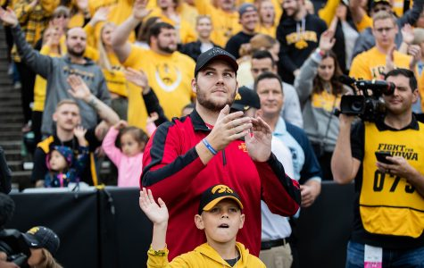 Carson King recognized at Iowa-Penn State football game