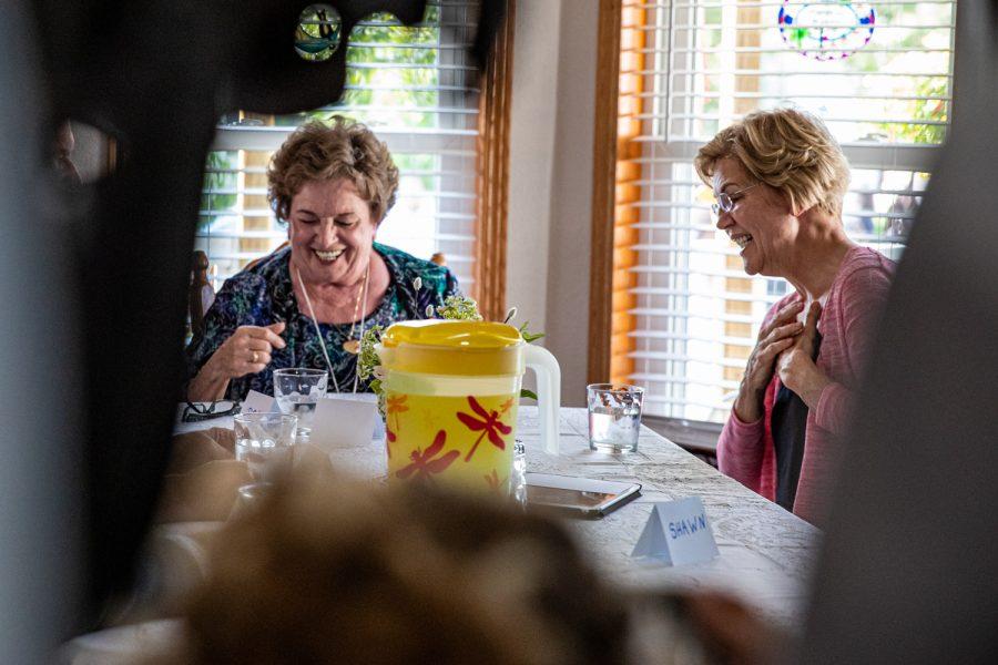 Sen.+Elizabeth+Warren+speaks+with+locals+during+a+campaign+visit+for+Sen.+Elizabeth+Warren%2C+D-Mass.%2C+in+North+Liberty+on+Friday%2C+September+20%2C+2019.+