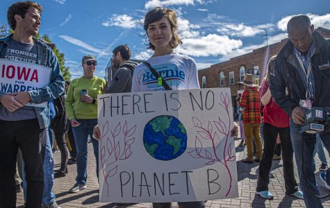 2020 campaigns rally with climate activist Greta Thunberg