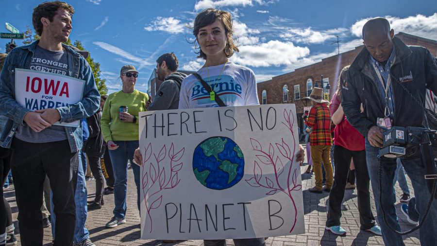 2020+campaigns+rally+with+climate+activist+Greta+Thunberg
