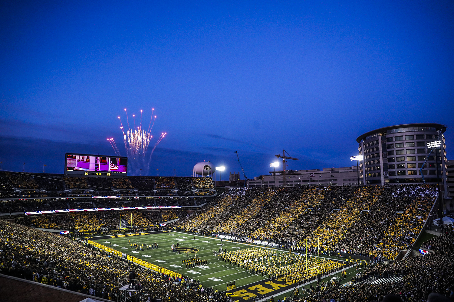 Fans prepare for the Iowa football game against Penn State in Iowa City on Saturday, Oct. 12, 2019. The Nittany Lions defeated the Hawkeyes 17-12.