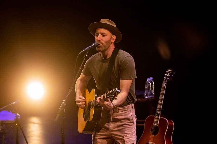 Mat Kearney performs at the Englert Theatre on Tuesday, October 15, 2019.