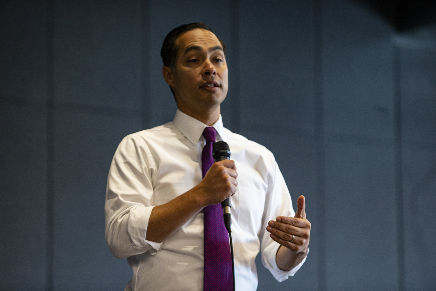 Democratic presidential candidate and former Housing and Urban Development Secretary Julian Castro speaks at St. Andrews Presbyterian Church on Oct. 18, 2019.