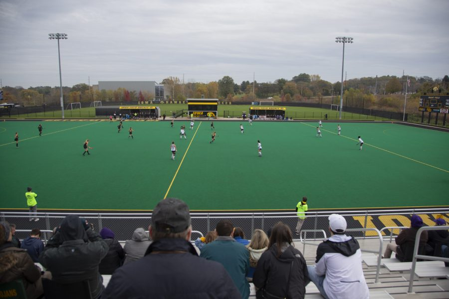 The+field+is+seen+during+a+field+hockey+game+between+Iowa+and+Northwestern+at+Grant+Field+on+Saturday+Oct.+26%2C+2019.+The+Hawkeyes+defeated+the+Wildcats+2-1.