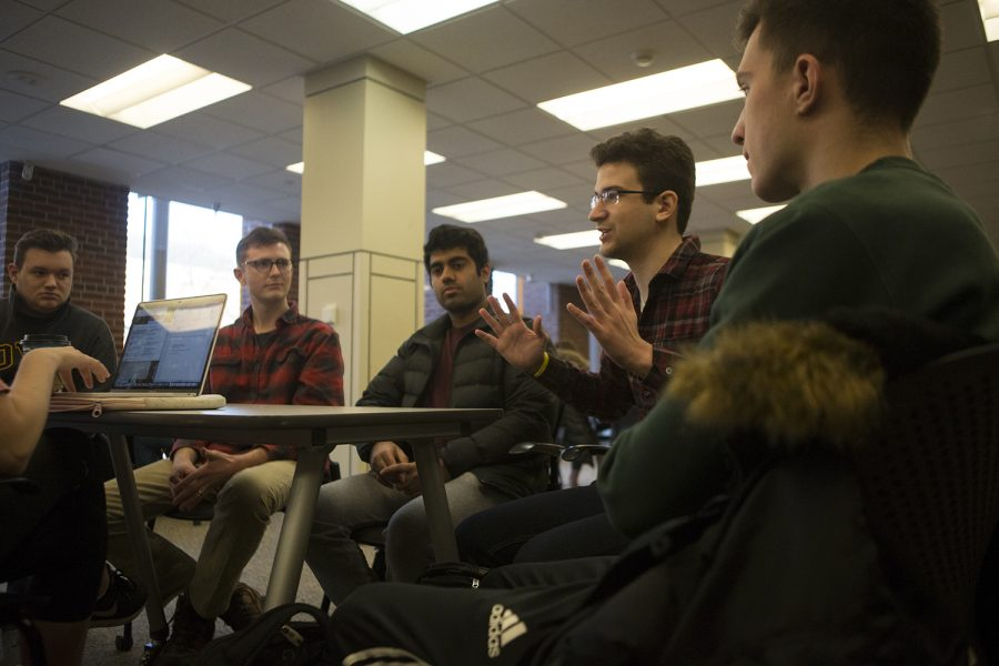 Dylan Montigney talks about Japan's esports scene at an interview in the Iowa Memorial Union on Monday, December 10, 2018.