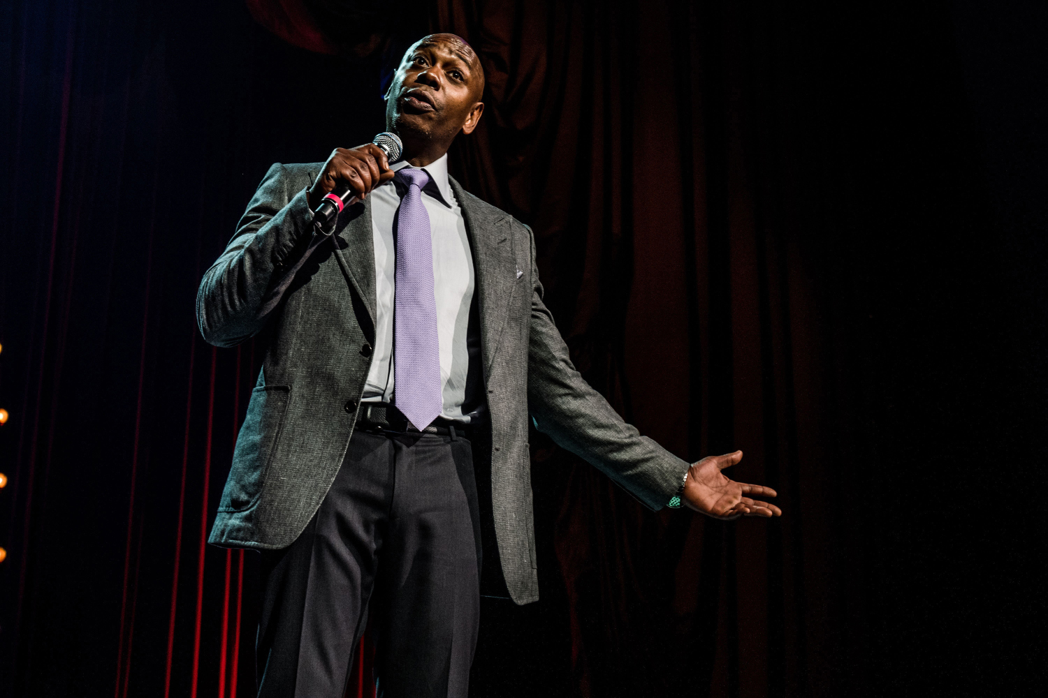 Dave Chappelle performs at the Radio City Music Hall on Aug. 24, 2017 in New York City.