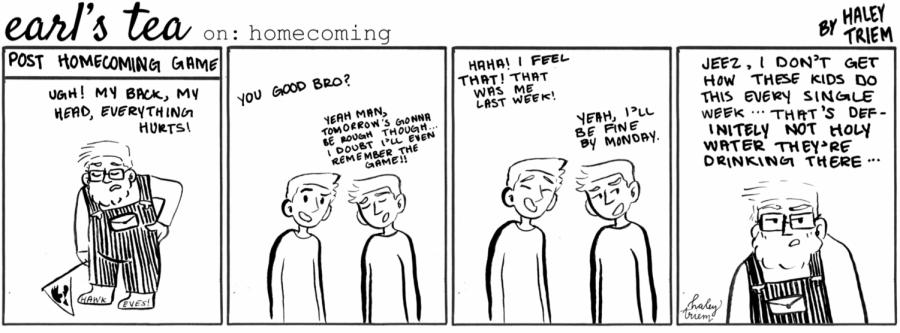 Cartoon: Earl's Tea on Homecoming
