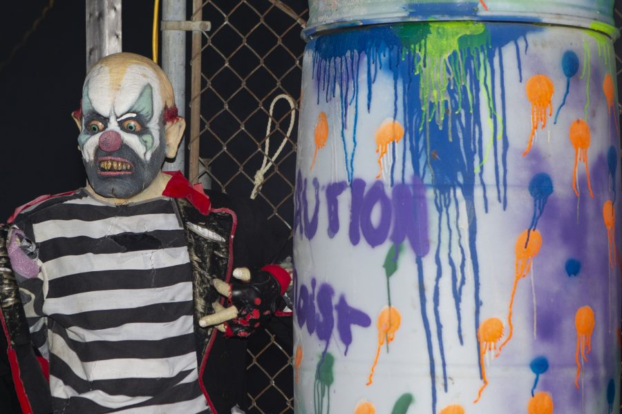 The Circle of Ash Haunted House, which is the largest haunted house in Iowa, is seen on October 27, 2019. The Haunted House takes place at the Linn County Fairgrounds in Central City, Iowa.  (Raquele Decker/The Daily Iowan)