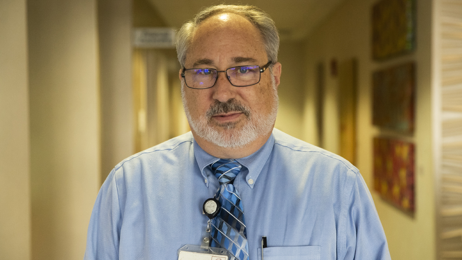 UIHC maternity researcher Stephen Hunter poses for a portrait on Monday Oct. 7, 2019. Maternal medicine experts with UIHC, in partnership with the Iowa Department of Public Health have received a $10 million dollar grant to improve maternal health outcomes in the state.