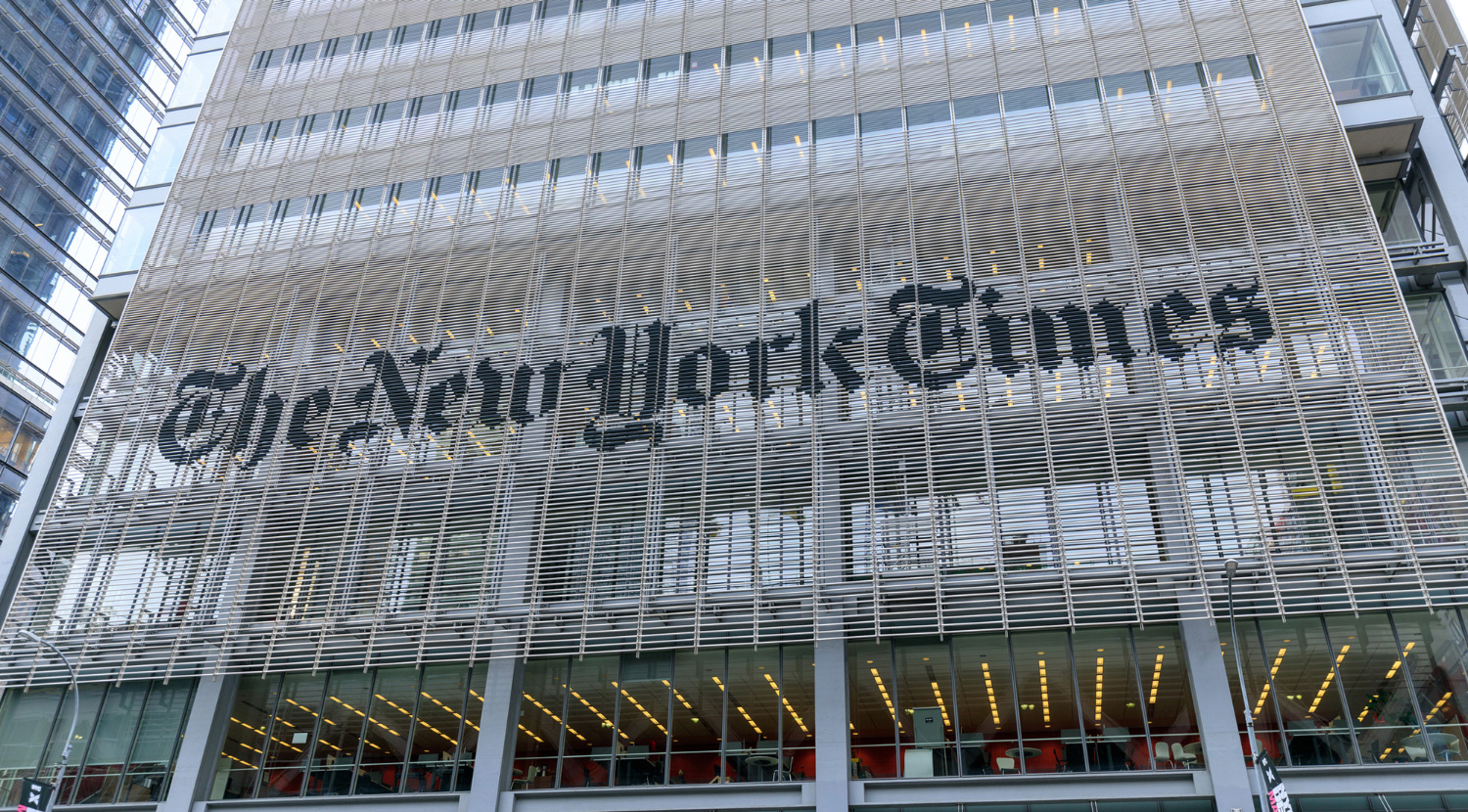 Headquarters of The New York Times on May 7, 2018 in New York City, N.Y.