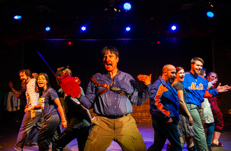 The cast of Evil Dead: The Musical performs the final number at the Iowa City community theater on Thursday, October 24th, 2019. Evil Dead: The Musical is based on the 181 cult film, The Evil Dead.