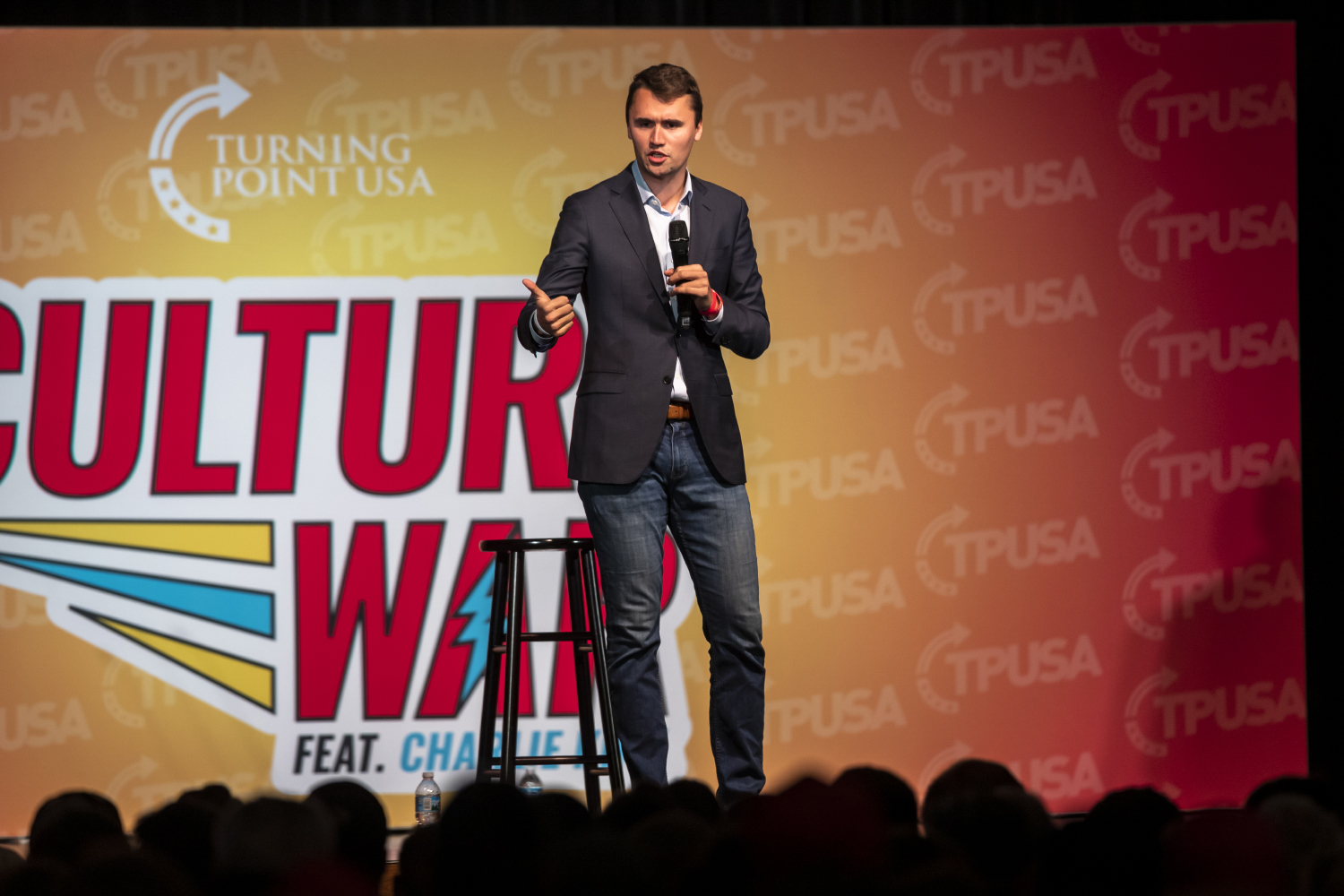"""Charlie Kirk, the founder of Turning Point USA, spoke out to the Iowa City community during his """"Culture War"""" tour.  His tour at The University Iowa took place in the Iowa Memorial Union at 7pm on October 23, 2019."""