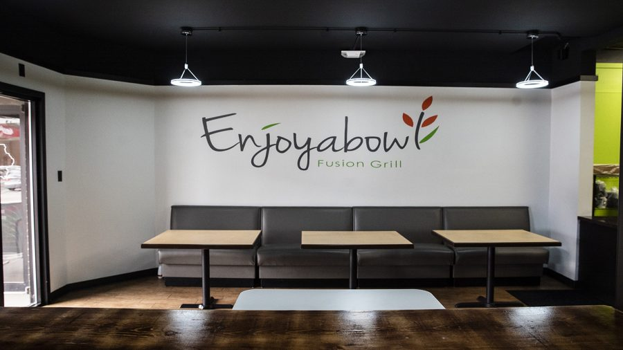 Enjoyabowl+is+seen+in+downtown+Iowa+City+on+Sunday%2C+October+13th%2C+2019.+Enjoyabowl+is+a+fusion+grill+with+elements+from+various+cuisines+inspired+by+the+Korean+dish+Bibimbap+or+mixed+%22rice%22.+