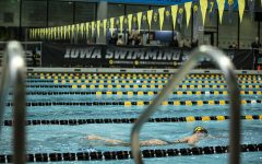 Iowa's Taylor Hartley competes in the Women's 1000  Freestyle during a swim meet between The University of Iowa and The University of Minnesota at the CRWC on October 26, 2019. Iowa's Men's team won against Minnesota 156-144 while Iowa's Women's team lost 157-143.