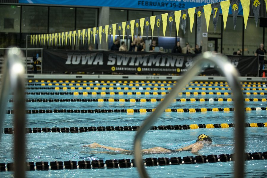 Iowa%E2%80%99s+Taylor+Hartley+competes+in+the+Women%E2%80%99s+1000++Freestyle+during+a+swim+meet+between+The+University+of+Iowa+and+The+University+of+Minnesota+at+the+CRWC+on+October+26%2C+2019.+Iowa%E2%80%99s+Men%E2%80%99s+team+won+against+Minnesota+156-144+while+Iowa%E2%80%99s+Women%E2%80%99s+team+lost+157-143.