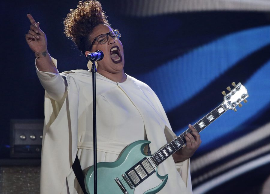 Alabama Shakes singer Brittany Howard performs at the 58th Annual Grammy Awards on Monday, Feb. 15, 2016, at the Staples Center in Los Angeles. (Robert Gauthier/Los Angeles Times/TNS)