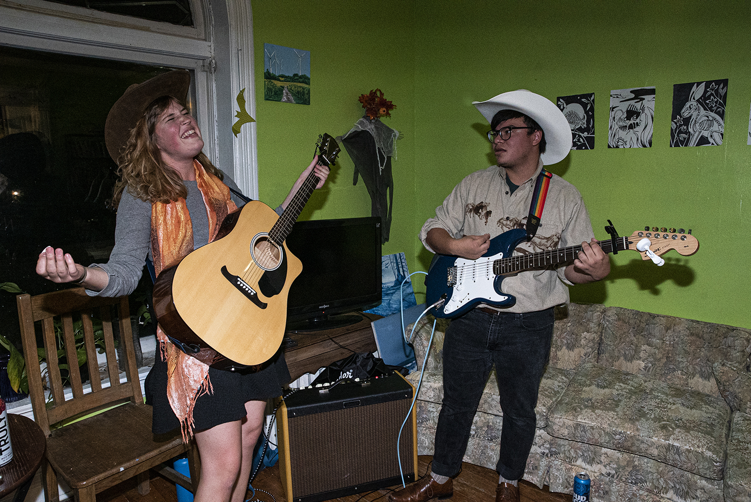 Cowpoke performs at River City Housing Collective on Saturday, October 27th, 2019.   As part of a Halloween celebration, River City Collective Housing hosted various local bands along with a costume contest.