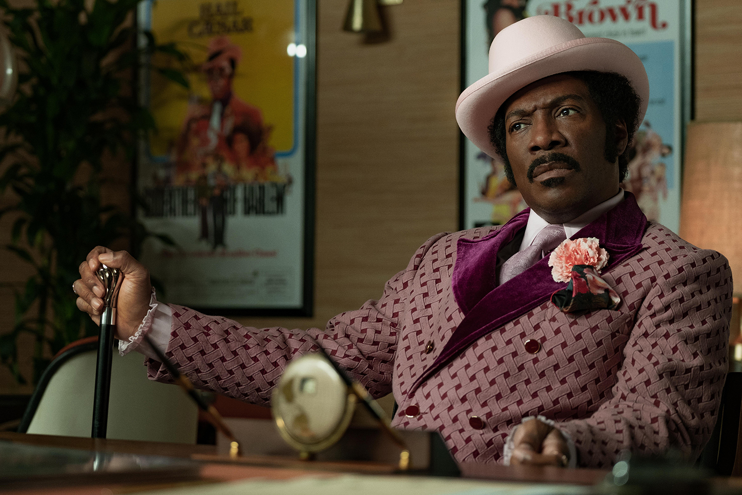 "Eddie Murphy stars as Rudy Ray Moore, a struggling performer who strikes it big with a larger-than-life persona in ""Dolemite is My Name."" [Netflix]"