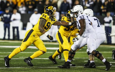 Iowa defensive line steps up in passing game despite loss