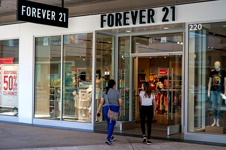 SANTA MONICA, CALIF. - JULY 11: The Forever 21 store at Santa Monica Place on Thursday, July 11, 2019 in Santa Monica, Calif.