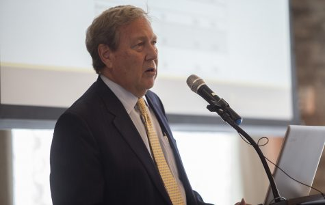 Harreld talks state funding, public/private partnership at State of the University speech