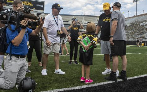 Kid Captain shows her heart belongs to the Hawkeyes
