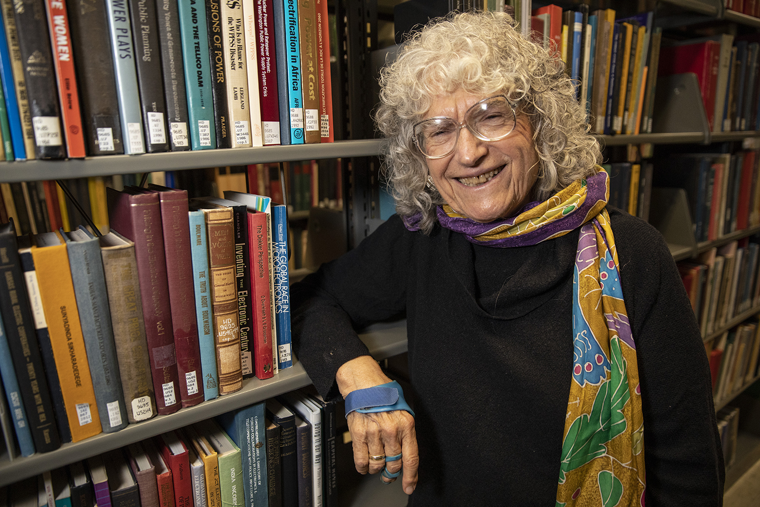 Linda Kerber, recently elected to the Council of the American Philosophical Society, poses for a portrait in the University of Iowa's main library on October 15, 2019. Among Kerber's accomplishments are fellowships with the National Endowment for the Humanities, and a Guggenheim Memorial fellowship.