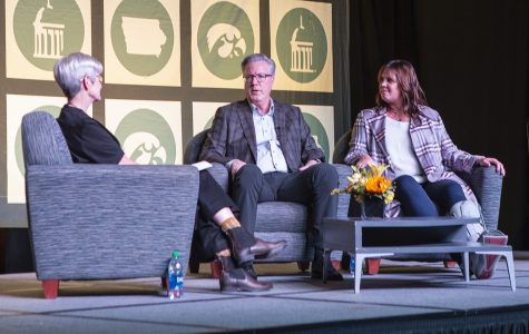 Fran and Margaret McCaffery speak on their philanthropy at the UI and son's cancer diagnosis
