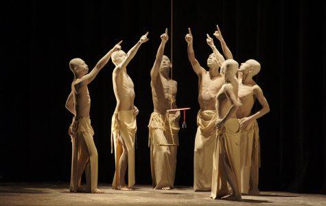 Sankai Juku brought traditional butoh dance to Hancher Auditorium in Utsushi