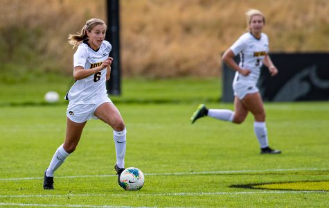 Iowa soccer shuts out Maryland on senior day