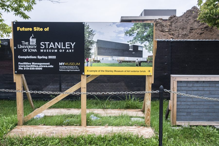 The+future+site+of+the+new+Stanley+Art+Museum+is+seen+on+Friday%2C+August+27th%2C+2019.+The+Stanley+Art+museum+will+relocate+from+the+Iowa+Memorial+Union+to+its+own+building+across+from+the+university+library.