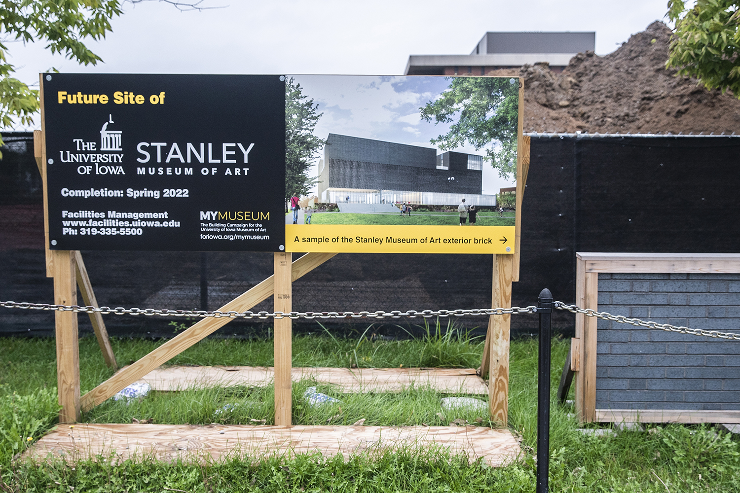 The future site of the new Stanley Art Museum is seen on Friday, August 27th, 2019. The Stanley Art museum will relocate from the Iowa Memorial Union to its own building across from the university library.