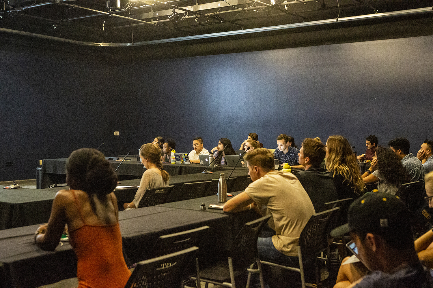 UISG meets on Tuesday, September 17, 2019 in the Blackbox Theater at the IMU. (Rauele Decker/The Daily Iowan)