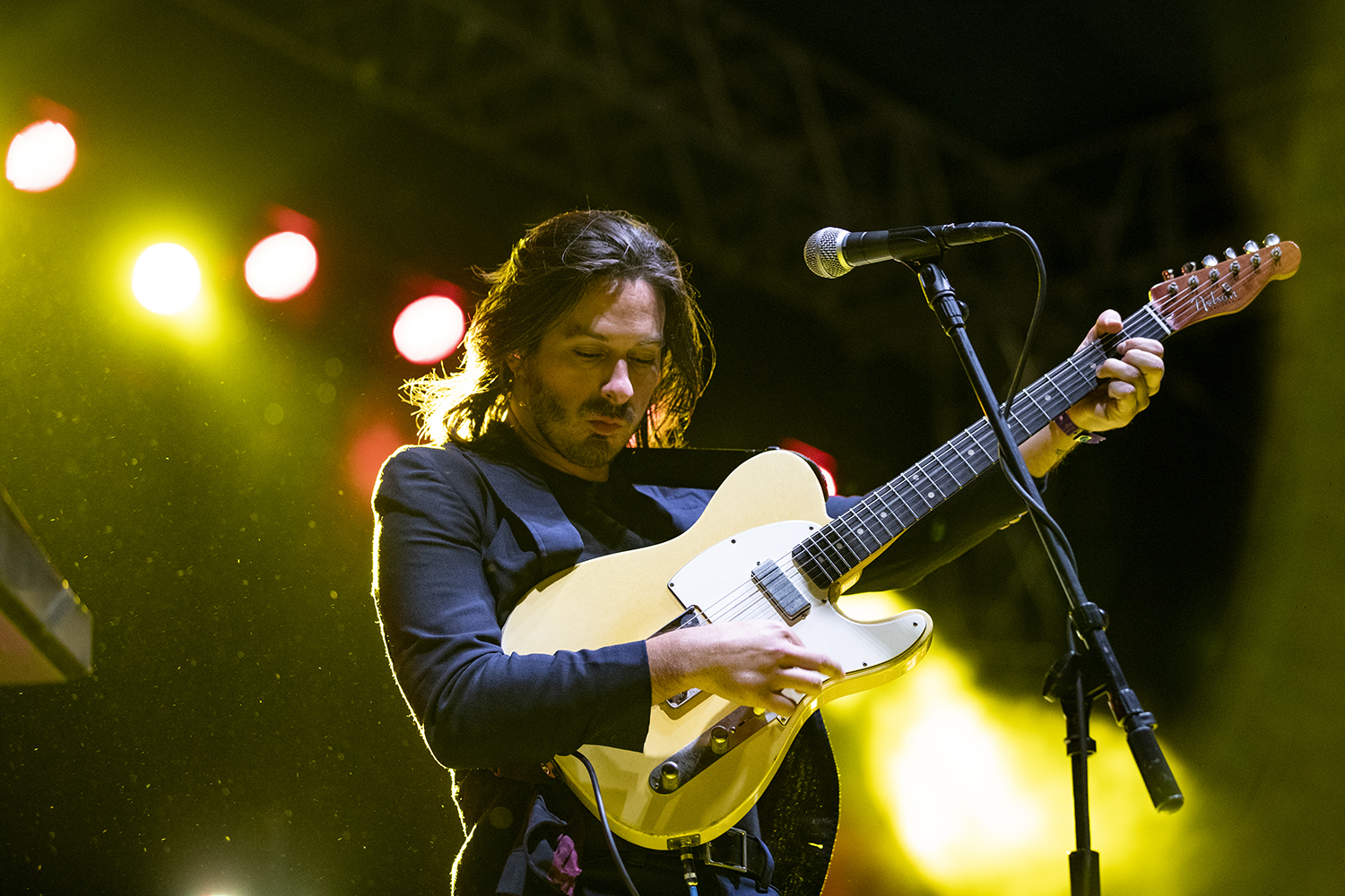 Ray Libby, guitarist for Bad Suns, performs during the Scope Productions sponsored concert on the pentacrest. The free concert was hosted by Scope Productions and was headlined by the band Bad Suns on October 18, 2019.