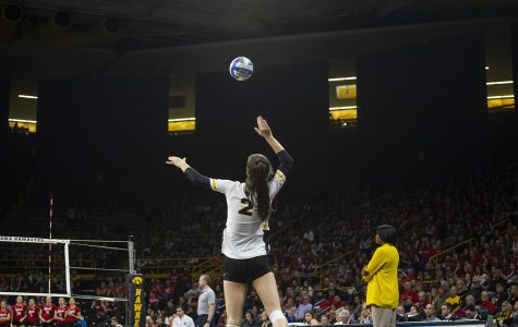 Nebraska sweeps Iowa volleyball at home